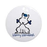 Dog Hanukkah Ornament (Round)