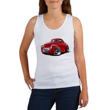 1941 Willys Red Car Women's Tank Top