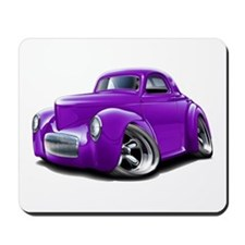 1941 Willys Purple Car Mousepad