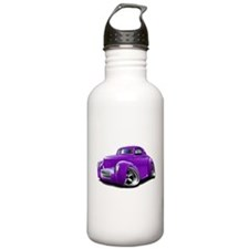 1941 Willys Purple Car Sports Water Bottle