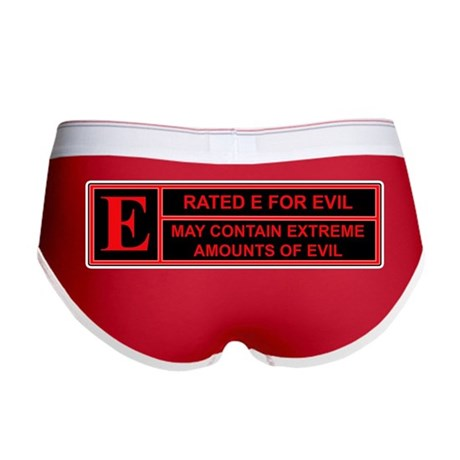 Rated E for evil Women's Boy Brief