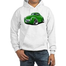 1941 Willys Green Car Hoodie