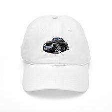 1941 Willys Black Car Baseball Cap