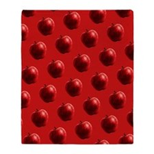Red Apples Pattern Throw Blanket