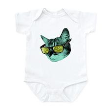 Cute Cat sunglasses Infant Bodysuit