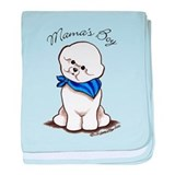 Bichon Mama's Boy baby blanket
