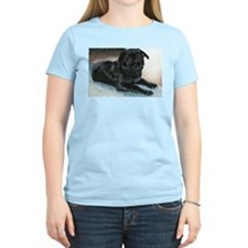Pug Puppy Head Up Women's Pink T-Shirt