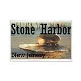 Cute Stone harbor Rectangle Magnet