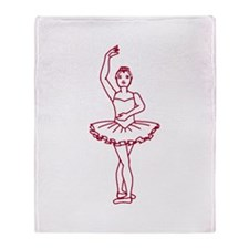 Ballet Fourth Position Throw Blanket