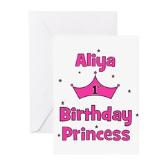 1st Birthday Princess Aliya! Greeting Cards (Pk of