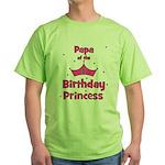 Papa of the 1st Birthday Prin Green T-Shirt