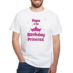 Papa of the 1st Birthday Prin White T-Shirt