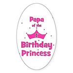 Papa of the 1st Birthday Prin Sticker (Oval)