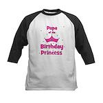 Papa of the 1st Birthday Prin Kids Baseball Jersey