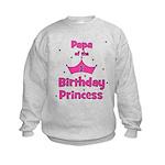 Papa of the 1st Birthday Prin Kids Sweatshirt