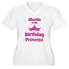 Abuela of the 1st Birthday Pr Women's Plus Size V-
