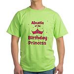Abuela of the 1st Birthday Pr Green T-Shirt