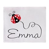 Ladybug Emma Throw Blanket