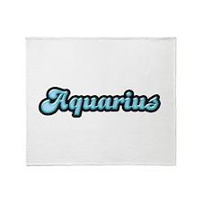 Retro Zodiac Aquarius Throw Blanket