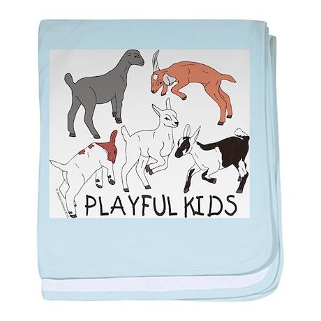 Playful Goat Kids baby blanket