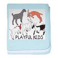 Playful Goat Kids baby blanket