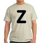 The Alphabet Letter Z Light T-Shirt