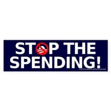Stop the Spending Bumper Sticker