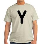 The Alphabet Letter Y Light T-Shirt