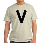 The Alphabet Letter V Light T-Shirt