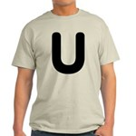 The Alphabet Letter U Light T-Shirt