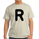 The Alphabet Letter R Light T-Shirt