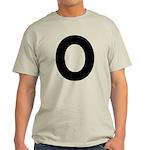 The Alphabet Letter O Light T-Shirt