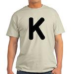 The Alphabet Letter K Light T-Shirt
