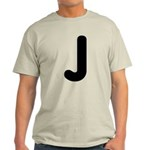 The Alphabet Letter J Light T-Shirt