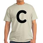 The Alphabet Letter C Light T-Shirt