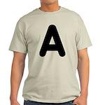 The Alphabet Letter A Light T-Shirt