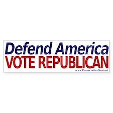Defend America, Vote Republican Bumper Bumper Sticker