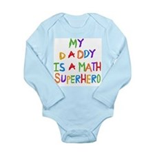 Daddy Math Superhero Onesie Romper Suit