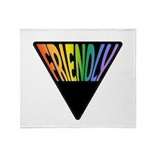 Gay Friendly Rainbow Triangle Throw Blanket
