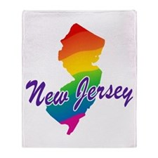 Gay Pride Rainbow New Jersey Throw Blanket