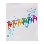 Rainbow Patio Chairs Throw Blanket