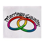 Marriage Equality Throw Blanket
