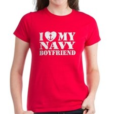 I Love My Navy Boyfriend Tee