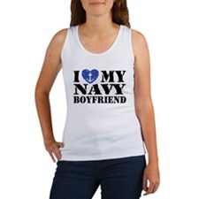 I Love My Navy Boyfriend Women's Tank Top