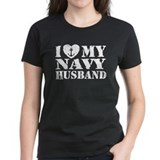 I Love My Navy Husband Tee