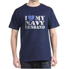 I Love My Navy Husband T-Shirt