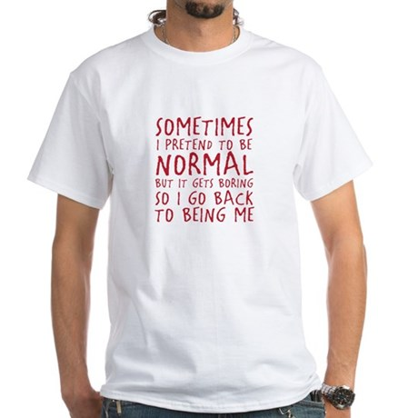 Being Me White T-Shirt