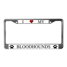White I Love My Bloodhounds Frame