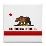 California Bear Tile Coaster