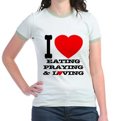 I Love Eating... Jr. Ringer T-Shirt